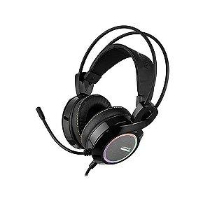 Headset Gamer Warrior, USB 7.1 LED Rgb PH290 - Preto/Cinza