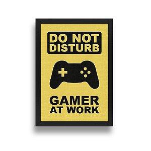 Quadro A3 Gamer at Work - 42 x 30 cm