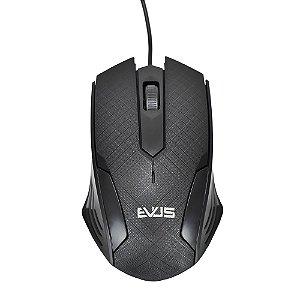 Mouse Óptico Evus MO-05 USB 800Dpi  - Preto