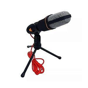 Microfone de Mesa Omnidirecional Preto -  SF-666