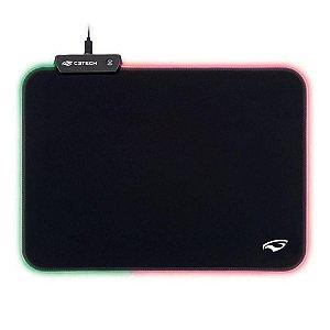 Mousepad Gamer C3 Tech RGB, Control, Grande  - MP-G2100BK