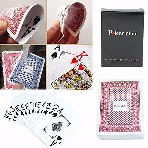 Baralho Poker Club 54 Cartas Vermelho100% Plastico