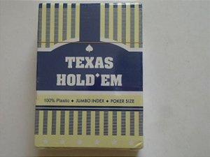 Baralho PVC Texas Hold em  -  Azul