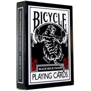 Baralho Bicycle Black Tiger Theory11 Ilusionista  Magicas Poker