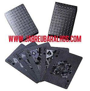 2B - Baralho Preto  PVC  Estilo Black Diamante