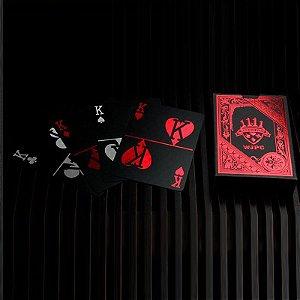 Baralho Preto Vermelho Pvc Magica 55 Cartas