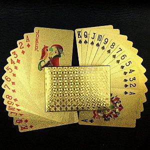 2B - Baralho Dourado Ouro 24k 54 Cards Poker