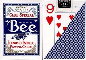 Baralho Bee Azul Tamanho  Jumbo  Size