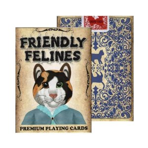 Baralho Friendly Felines magica Truques Poker  - 2 Gaff Cards