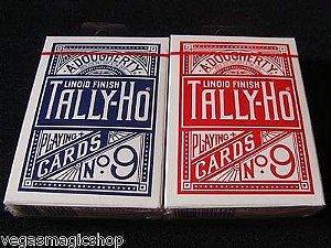 6A - Baralho Tally- Ho Circle Back  Azul ou Vermelho Cadastry Magica Poker  $30,80