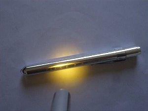 Z - Lanterna Caneta  LED  Medicina  -     Prata Fosco Lilaz  Dourada  $13,80 Cada