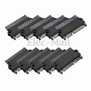 Socket Adaptador  Conversor Sata 22 Pin (7+15 Pin) M/F - 5 Pçs
