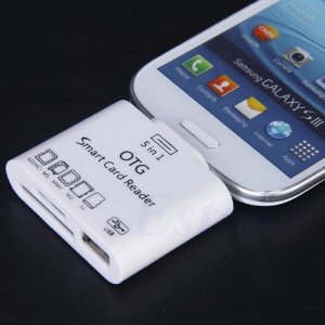 Otg 5x1 Samsung Galaxy Card Reader Sd Micro Usb