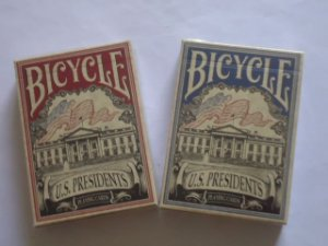 2 Baralhos Bicycle USA Presidents. V1  1 Red e 1 Blue - Gaff Cards