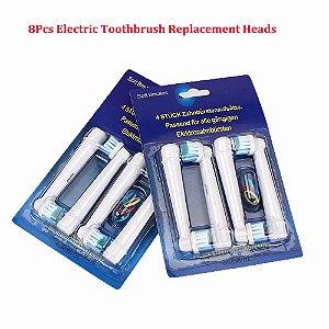 Yg  - 1 Cartela (4 Unids) Refil Oral B Esc Dente Braun Compativel