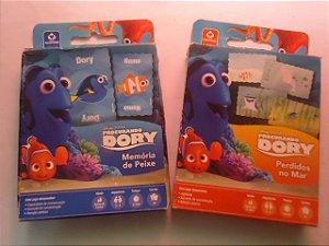 1A - 2 Jogos Procurando Dory - Perdido no Mar / Memoria de Peixe  5 Cartas