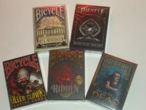 1 - 5 Baralhos Bicycle  - Shadow Masters - Hidden - US Presidents - Killer Clowns - Day of the Dead