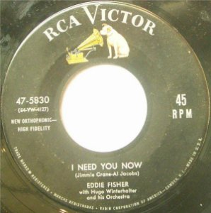Compacto - Eddie Fisher - I Need You Now / Heaven Was Never Like This (IMP)