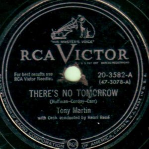 Compacto - Tony Martin - There's No Tomorrow / A Thousand Violins (Imp)
