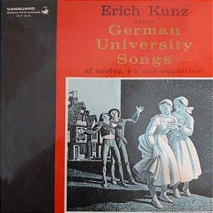 LP - Erich Kunz – Erich Kunz Sings German University Songs Of Wooing - Vol. 2 (Importado US)