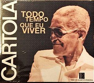 """CD - Cartola – Todo Tempo Que Eu Viver (CD """"Cartola - 1974"""" aberto sem avaria. Os outros dois títulos lacrados.) (BOX com 3 CDs)"""