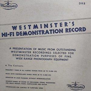 LP - westminster's - Hi-Fi Demonstration Record (Importado US)