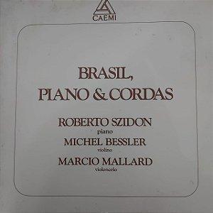 LP - Roberto Szidon, Michel Bessler, Marcio Mallard – Brasil, Piano & Cordas (Vários Artistas)