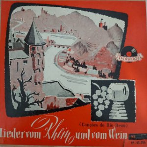 """LP - Lieder vom Rhein und vom Wein (Vários Artistas) (Importado Alemanha) (10"""")"""