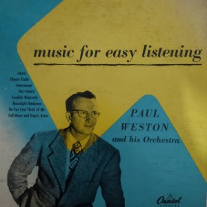 """LP - Paul Weston And His Orchestra – Music For Easy Listening (Importado US) (10"""")"""