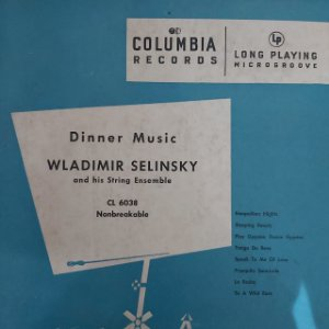 "LP - Wladimir Selinsky And His String Ensemble – Dinner Music (Importado US) (10"")"