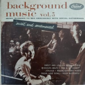 """LP - Bill Loose And His Orchestra – Background Music Vol. 5 (Importado US) (10"""")"""