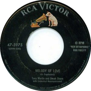 COMPACTO - Tony Martin And Dinah Shore – Melody Of Love / You're Getting To Be A Habit With Me