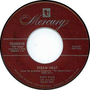 COMPACTO - Patti Page - Steam Heat / Lonely Days