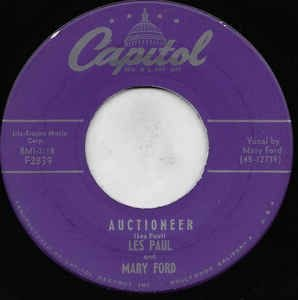 COMPACTO - Les Paul and Mary Ford – Auctioneer  / I'm A Fool To Care