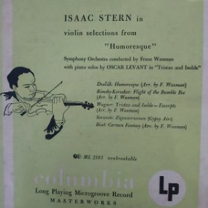 """LP - Isaac Stern – Violin Selections From """"Humoresque"""" (Importado US) (10"""")"""