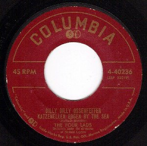 COMPACTO - The Four Lads – Gilly Gilly Ossenfeffer Katzenellen Bogen By The Sea / I Hear It Everywhere
