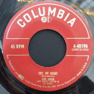 COMPACTO - Toni Arden With Percy Faith – In Paris And In Love / Cry, My Heart (Importado Canada)