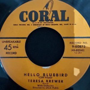 COMPACTO - Teresa Brewer – Hello Bluebird / Till I Waltz Again With You (Importado US)
