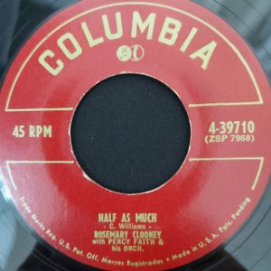 COMPACTO - Rosemary Clooney – Half As Much / Poor Whip-Poor-Will (Importado US)