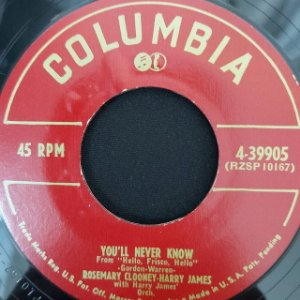 COMPACTO - Rosemary Clooney – You'll Never Know / The Continental (Importado US)