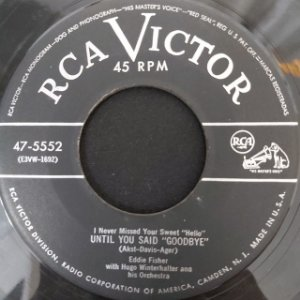 COMPACTO - Eddie Fisher – Oh! My Papa / I Never Missed Your Sweet (Importado US)
