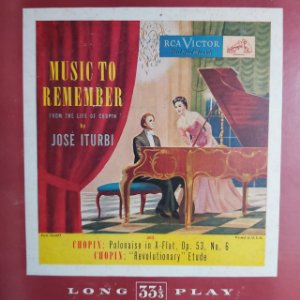 "LP - José Iturbi – Music To Remember (Importado US) (10"")"