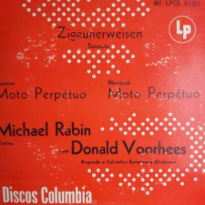 "LP - Zigeunerweisen - Sarasate (10"")"