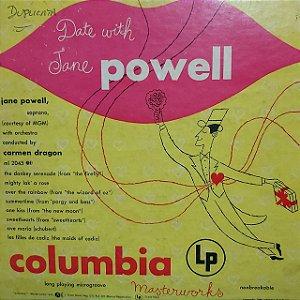 "LP - Jane Powell – A Date With Jane Powell (Importado US) (10"")"