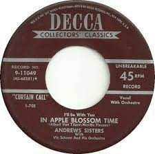 COMPACTO - Albert Von Tilzer - Bei Mir Bist Du Schon (Means That You're Grand) / (I'll Be With You) In Apple Blossom Time