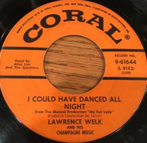 COMPACTO - Lawrence Welk – I Could Have Danced All Night / On The Street Where You Live