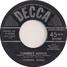COMPACTO - The Andrews Sisters – Carmen's Boogie / Adios