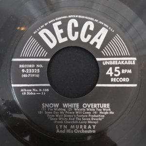 COMPACTO - Lyn Murray - Snow White Overture / Some Day My Prince Will Come (Importado US)