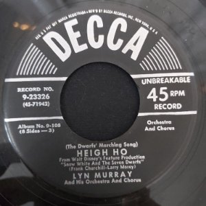 COMPACTO - Lyn Murray - Heigh Ho / With A Smile And A Song (Importado US)