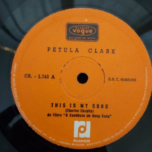 COMPACTO - Petula Clark - This is My Song / The Show Is Over